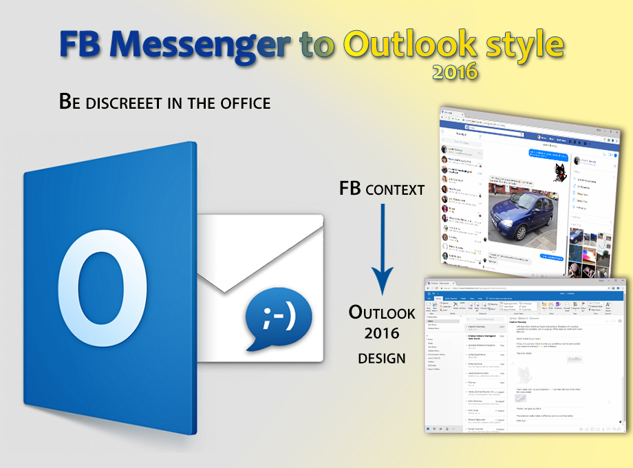 Discreet messenger for Facebook extension